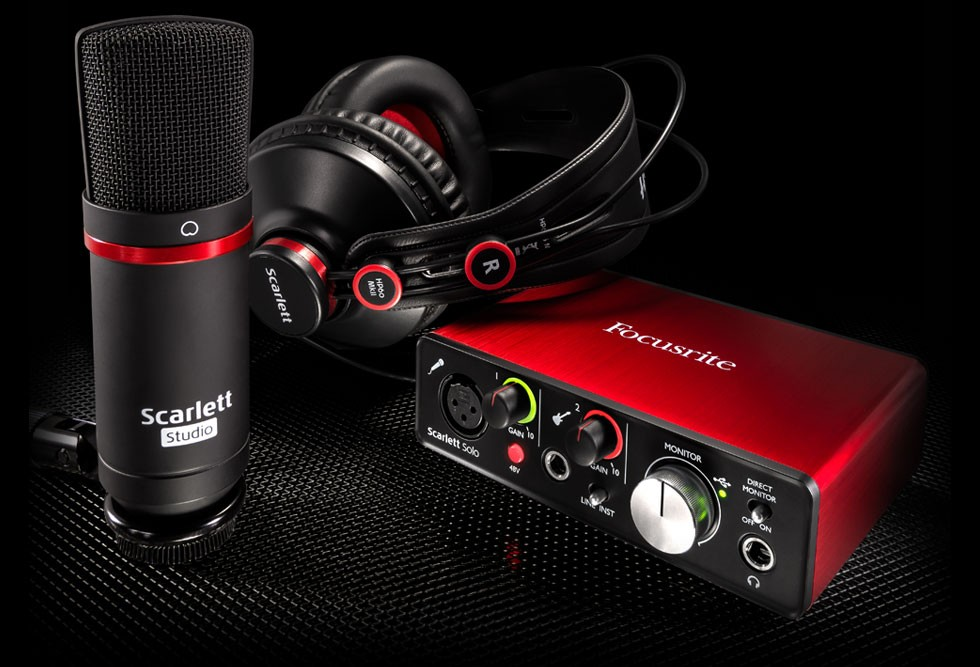 Kit Home Studio Focusrite Scarlett Solo Studio