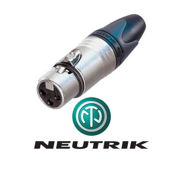 Neutrik - Conector Xlr Fêmea Nc3-fxx De 3 Pinos '