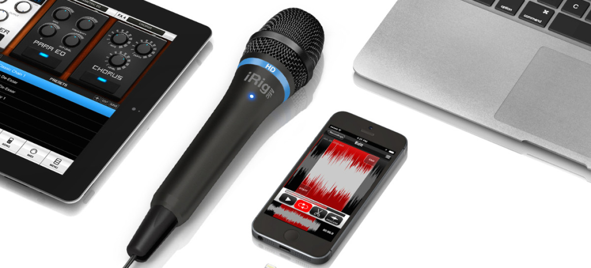 iRig Mic HD - Microfone para iphone, ipad, mac e pc