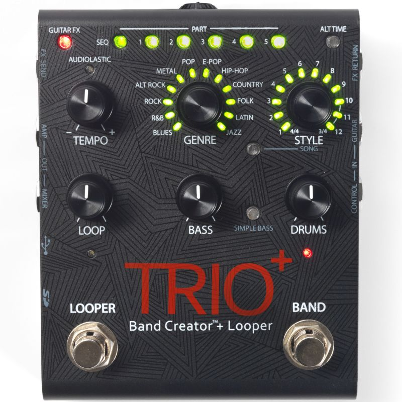 Pedal Digitech Trio Plus + Com Looper integrado