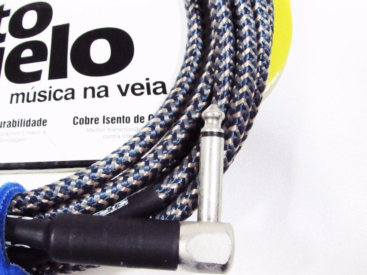 Cabo Guitarra Violão Santo Ângelo Textil 3,05 Metros Plug L