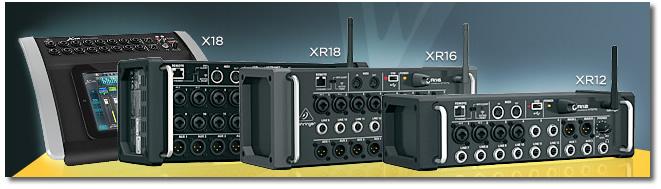 Mesa de Som Behringer  XR16 X-Air WiFi