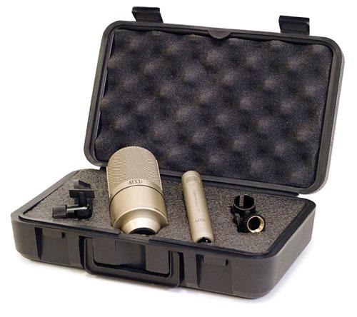 Kit de Microfone condensador para estúdio MXL 990/991
