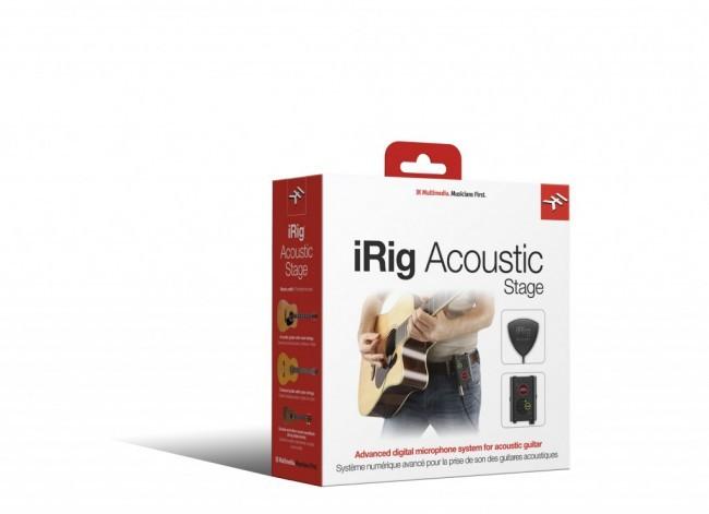 iRig Acoustic Stage - Microfone para violão com pré-amplificador