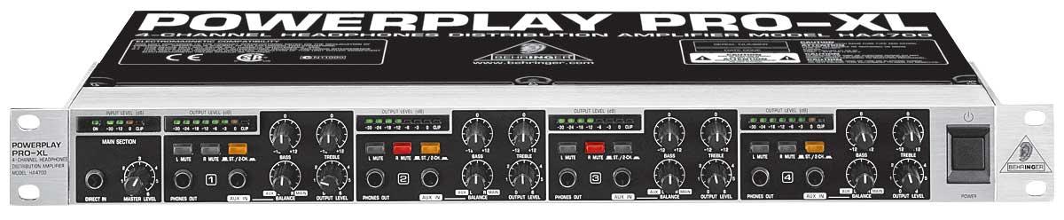 Behringer HA4700 - Amplificador de fone de ouvido Powerplay