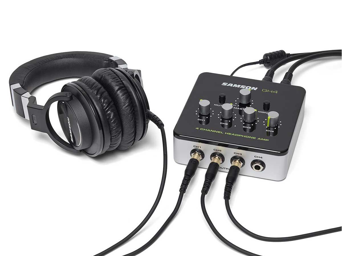 Amplificador de Fone de Ouvido de 4 Canais Samson QH4