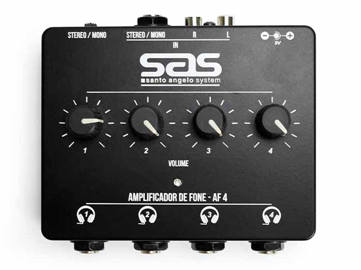 Amplificador de Fone Santo Angelo AF4 Preto