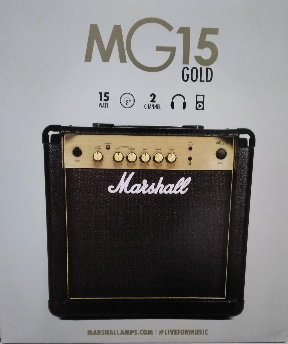 Amplificador de Guitarra Marshall MG15R Gold Com Reverb