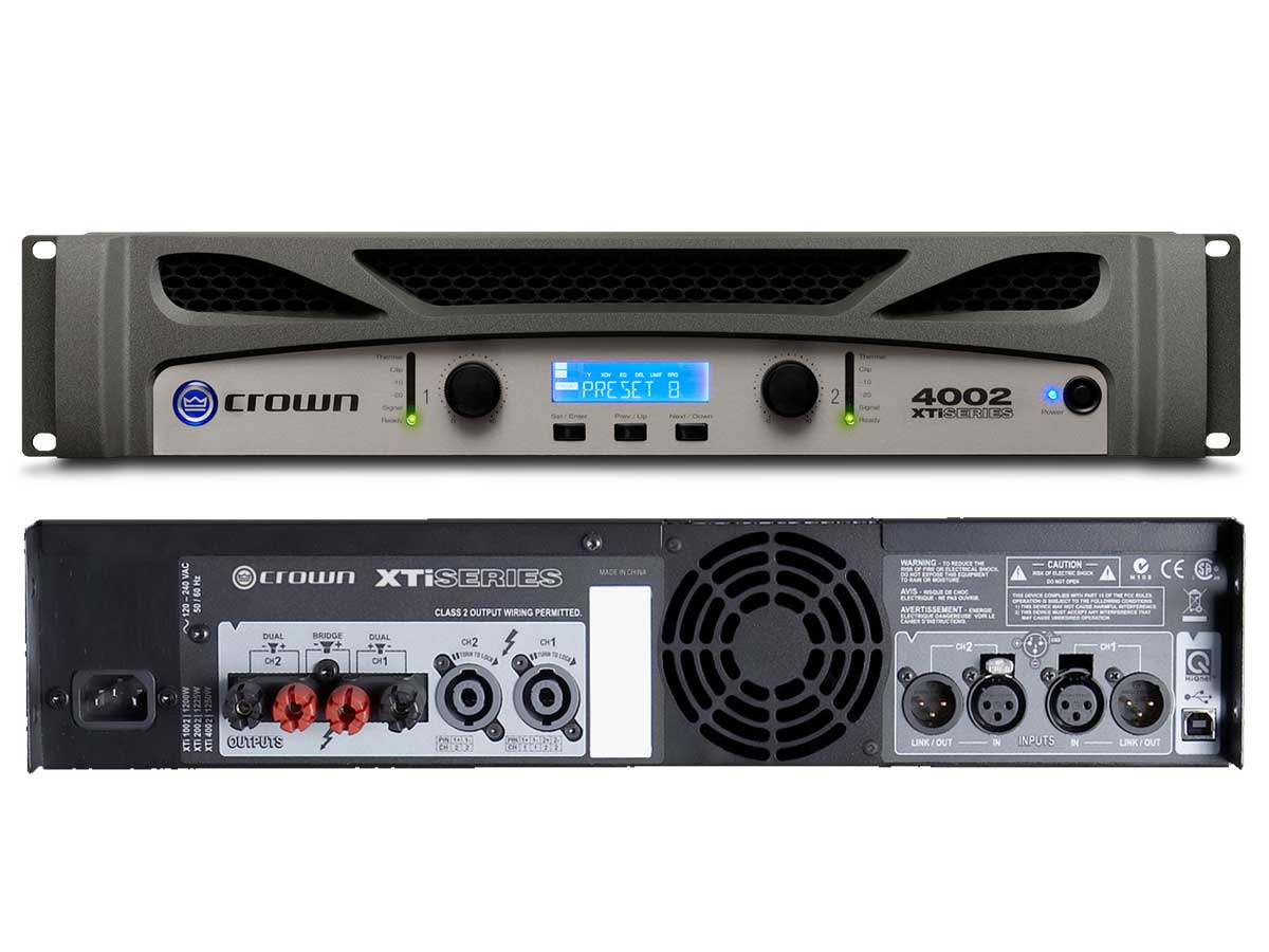 Amplificador De Potência Crown Xti 4002-u Br 3200 Watts Rms