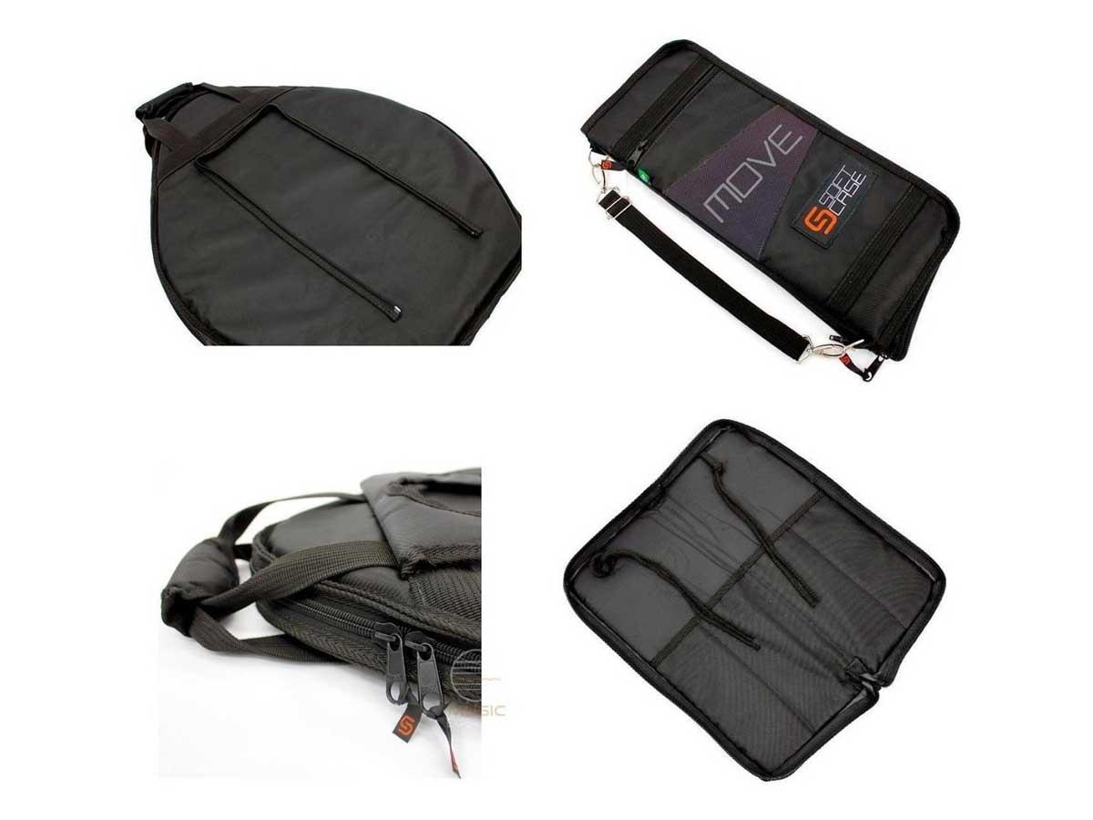 Bag Luxo para Pratos de Bateria Soft Case Move Com Baqueteira Removível