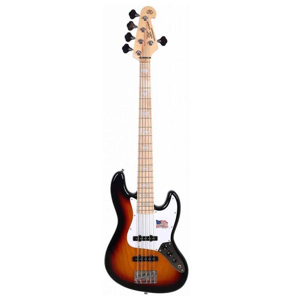 Baixo SX SJB755 Jazz Bass 5 Cordas Passivo em Ash