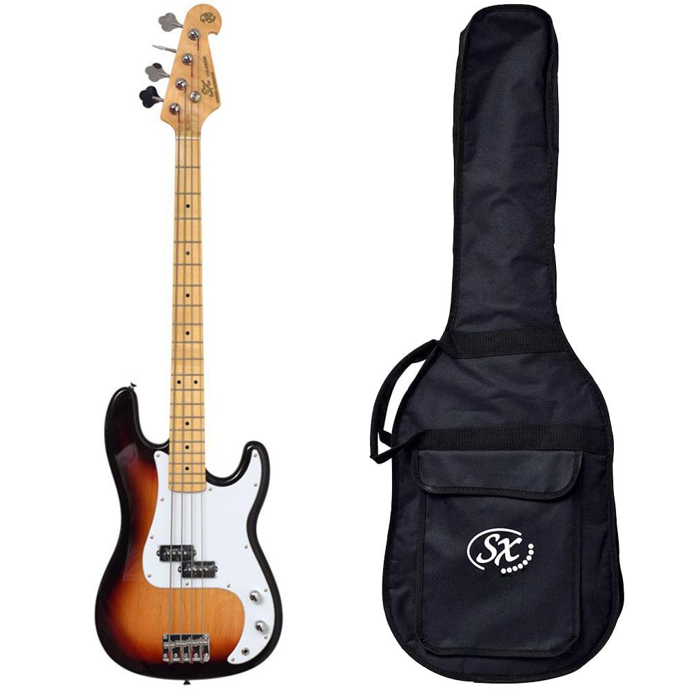 Baixo SX SPB57+ Precision Bass 4 cordas com Bag
