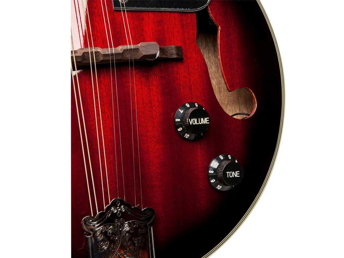 Bandolim Eletroacústico Stagg M50E Bluegrass RedBurst