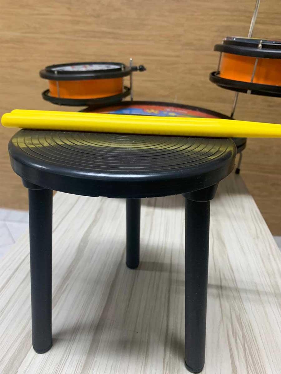Bateria Infantil Luen Pocket Patati Patatá Laranja