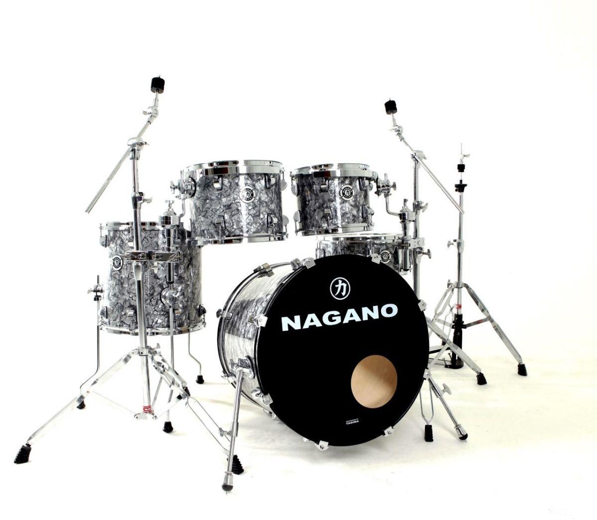 Bateria Nagano Concert Traditional Celulloid Abalone Gray