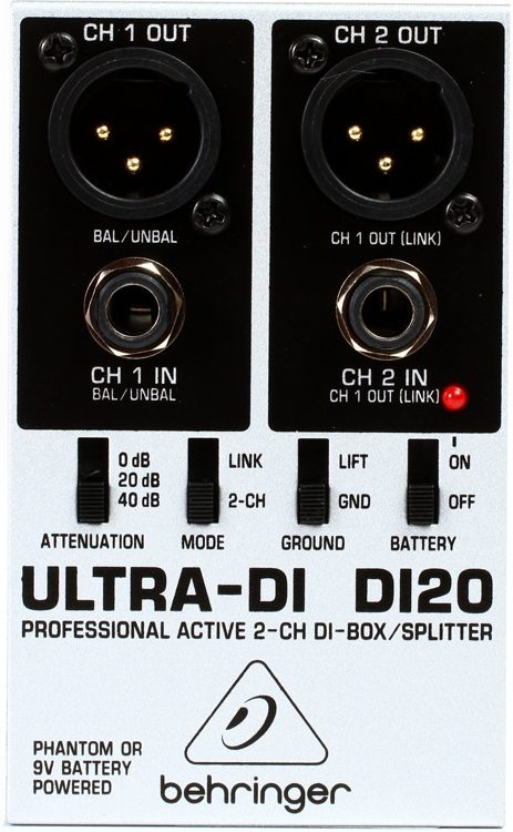 Behringer DI20 Direct Box duplo