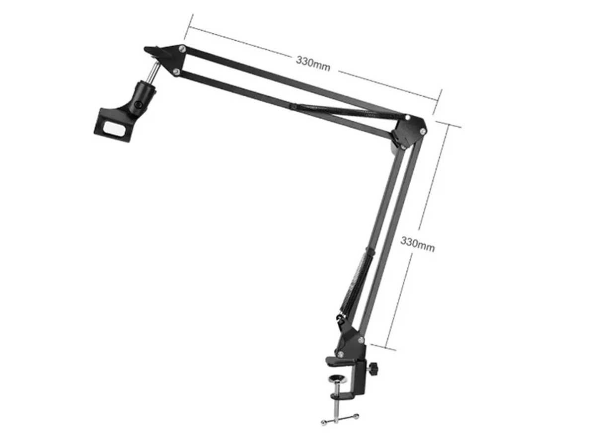 Braço Suporte Pedestal de Mesa para Microfone Jiaxi NB-35