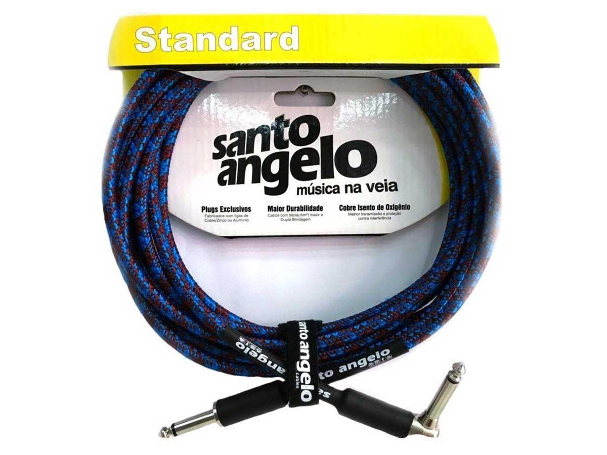 Cabo Guitarra Violão Santo Ângelo Textil 4,57 Metros Plug L