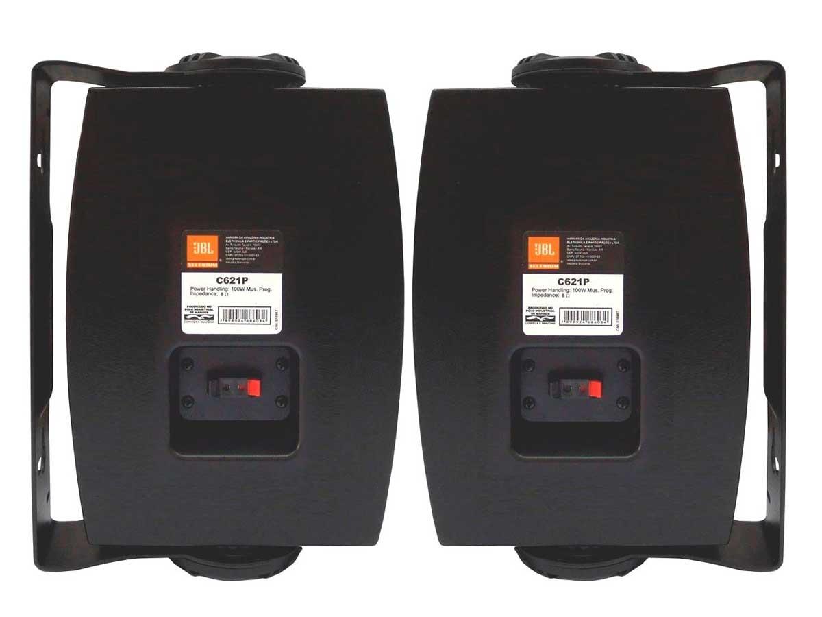 """Caixa de Som Ambiente JBL C621P 6"""" 50W RMS Passiva - o Par"""