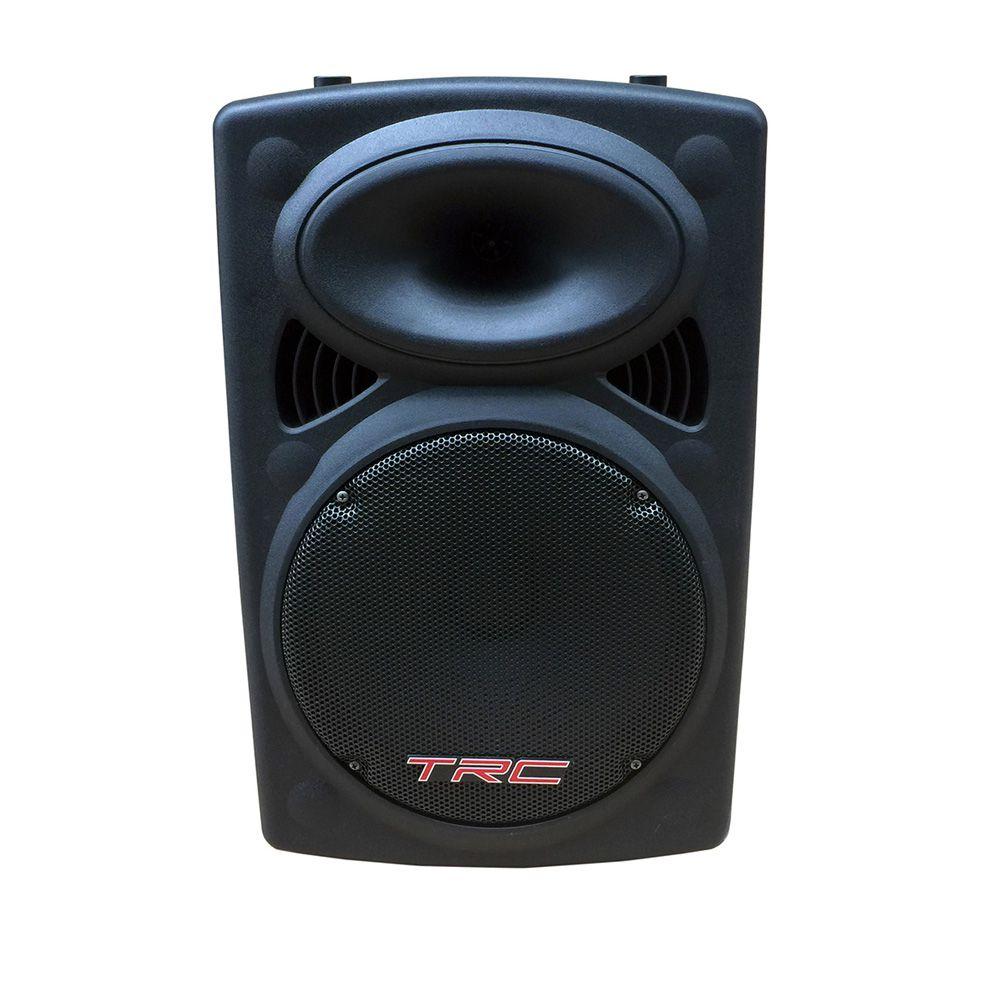 Caixa de Som TRC 358N 350W RMS Amplificada Portátil Bluethooth Radio FM /USB - Bivolt