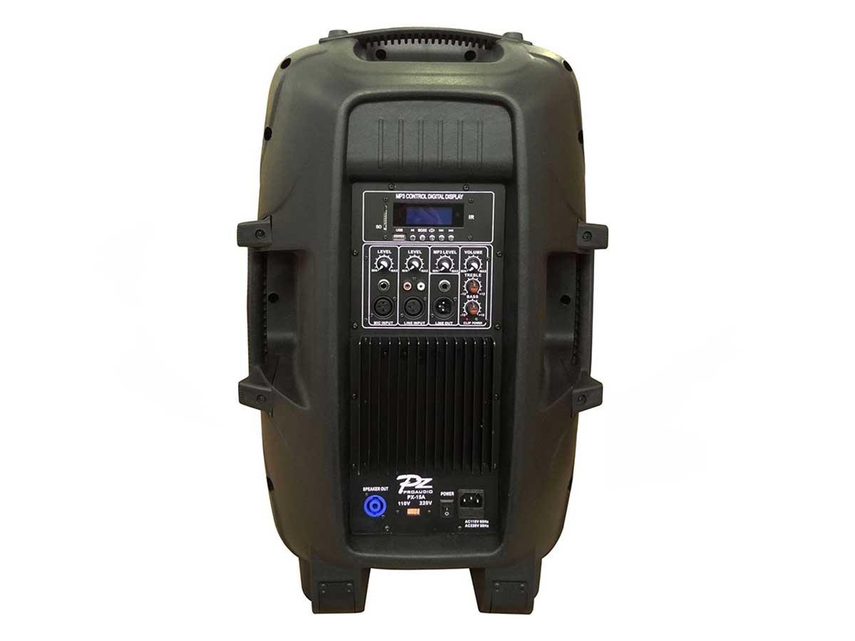 """Caixa de Som Ativa PZ Proaudio PX15AEQ Bluetooth USB MP3 15"""" 250w"""