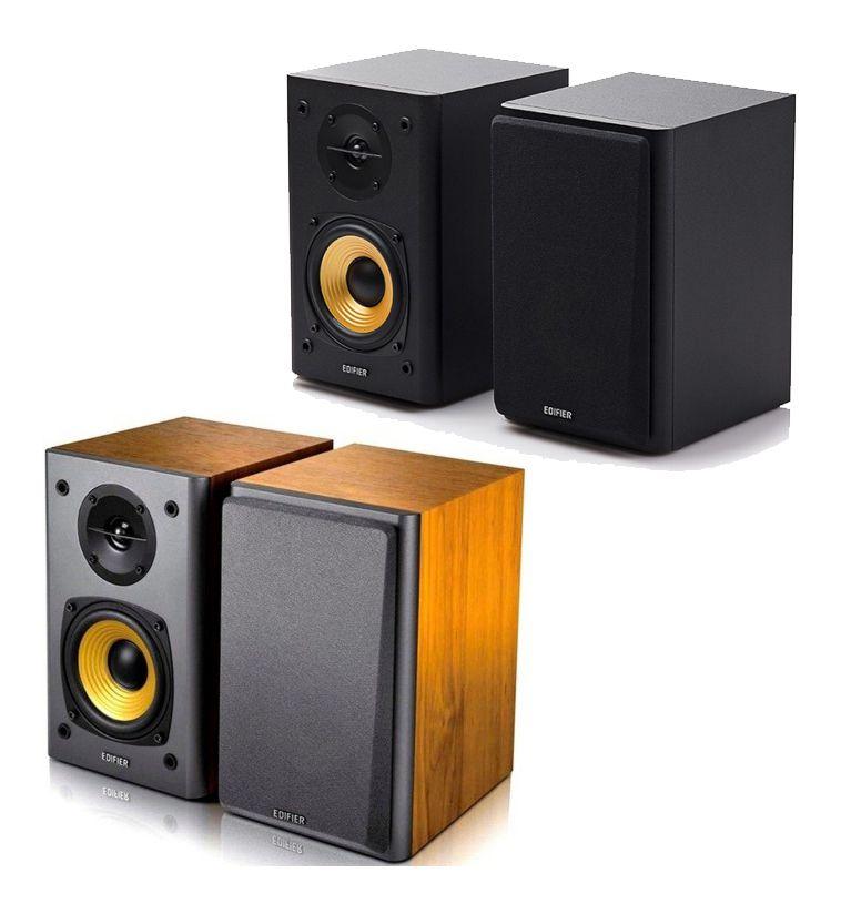 Caixa de Som Edifier R1000t4 Monitor de Áudio - Madeira ou Preta