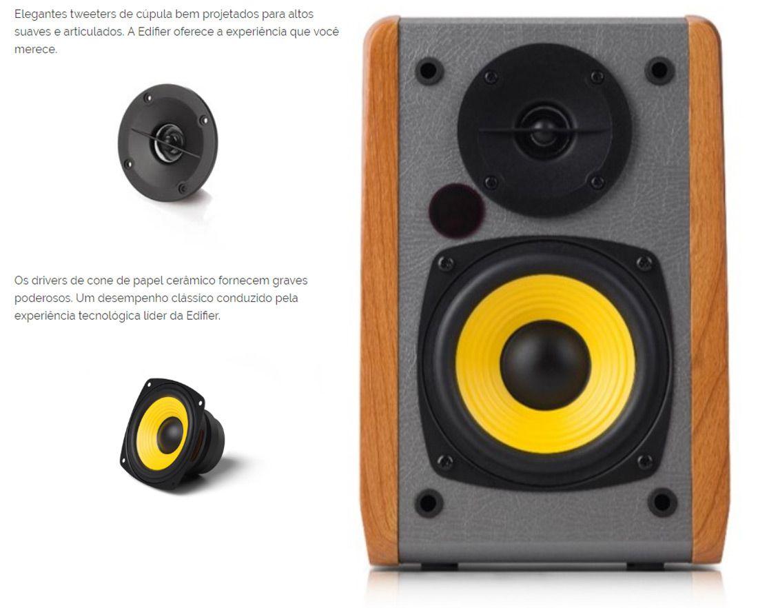 Caixa De Som Edifier R1010BT Monitor Referência Home Studio