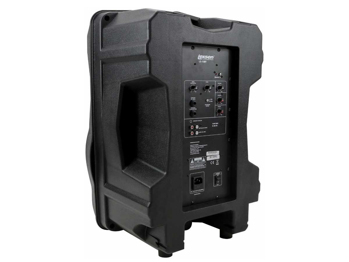 Caixa de Som Lexsen LS-15BT 100W RMS Amplificada Bluetooth - Bivolt
