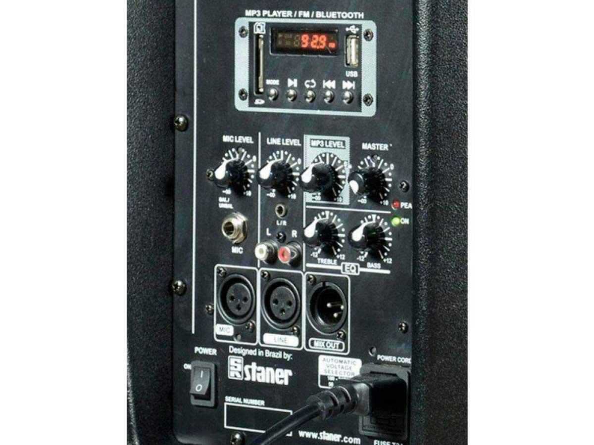 Caixa de Som Multiuso Staner PS 1501 BT USB SD FM 200w Com pedestal