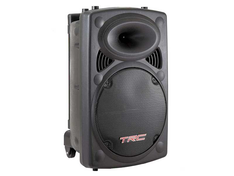 Caixa de Som TRC 436 350W RMS Amplificada Portátil Bluetooth Radio FM /USB - Bivolt