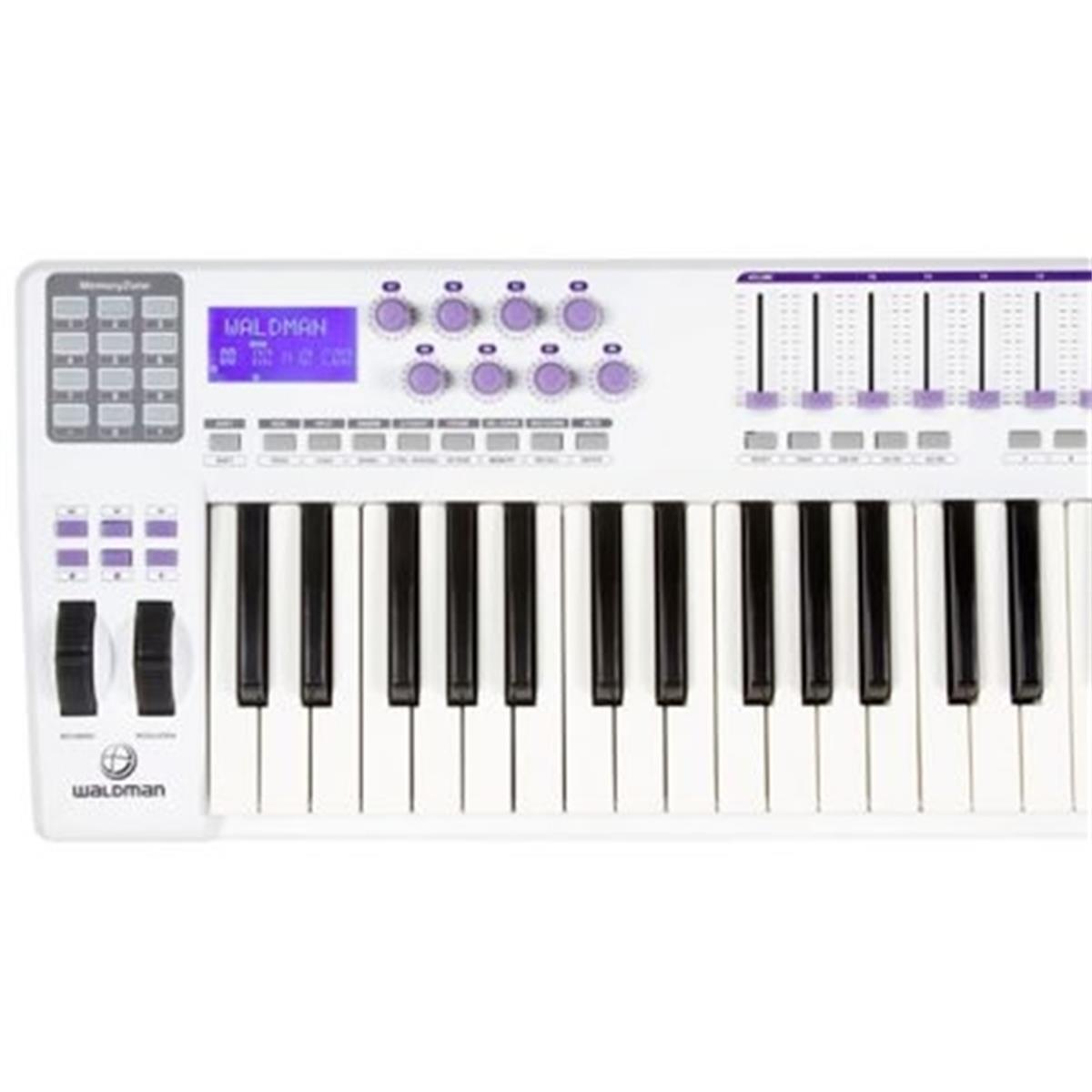 Controlador Midi Waldman Carbon 61 USB/MIDI 61 teclas com Pads