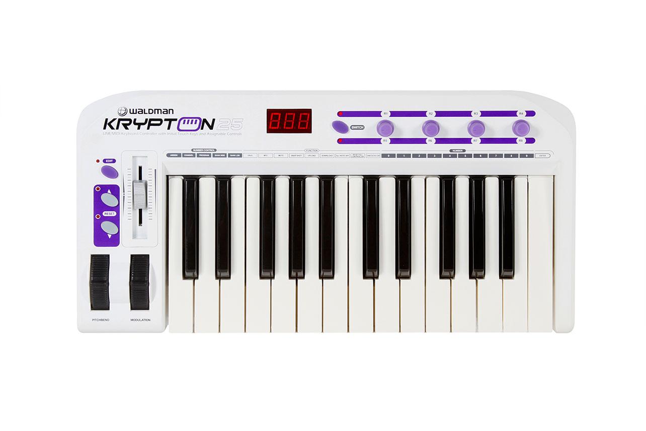 Controlador Midi Waldman Krypton 25 USB/MIDI 25 teclas