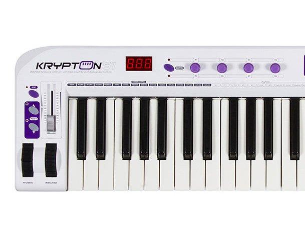 Controlador Midi Waldman Krypton 61 USB/MIDI 61 teclas