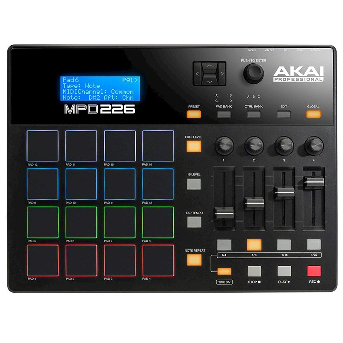 Controladora Sampler AKAI MPD 226 '