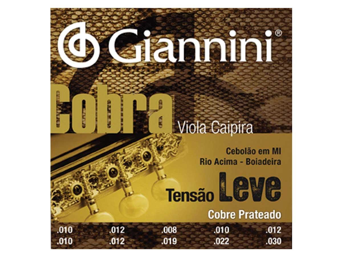 Encordoamento Giannini Cobra para Viola Cobre Prateado Tensão Leve GESVL