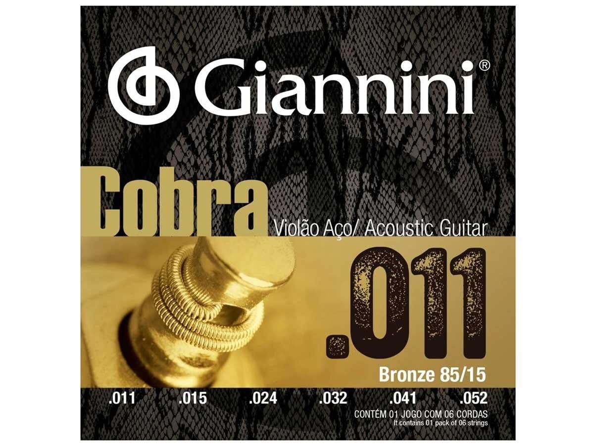 Encordoamento Giannini Cobra para Violão .011 Bronze GEEFLK