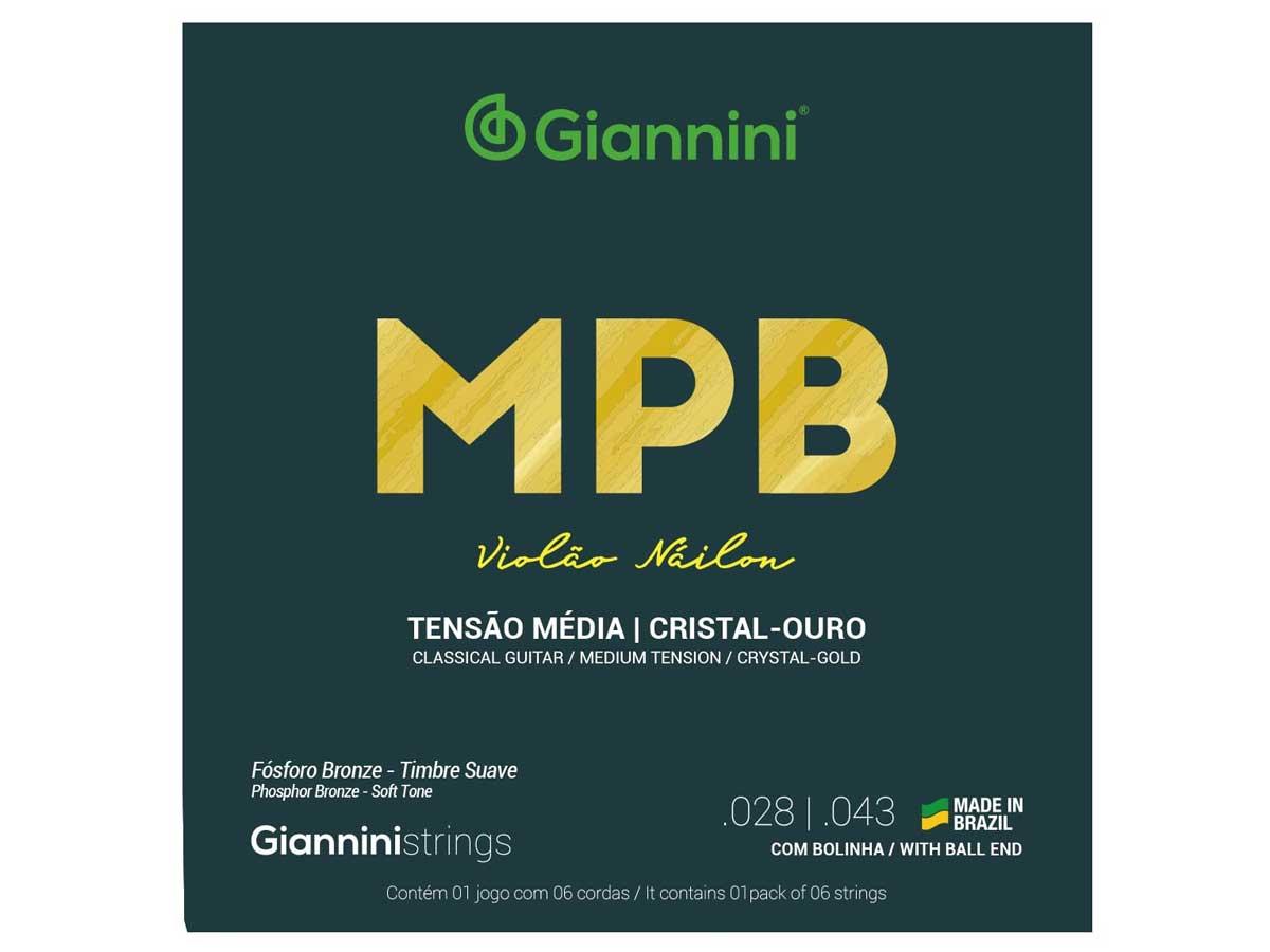Encordoamento Giannini MPB para Violão Nylon Cristal Ouro GENWG