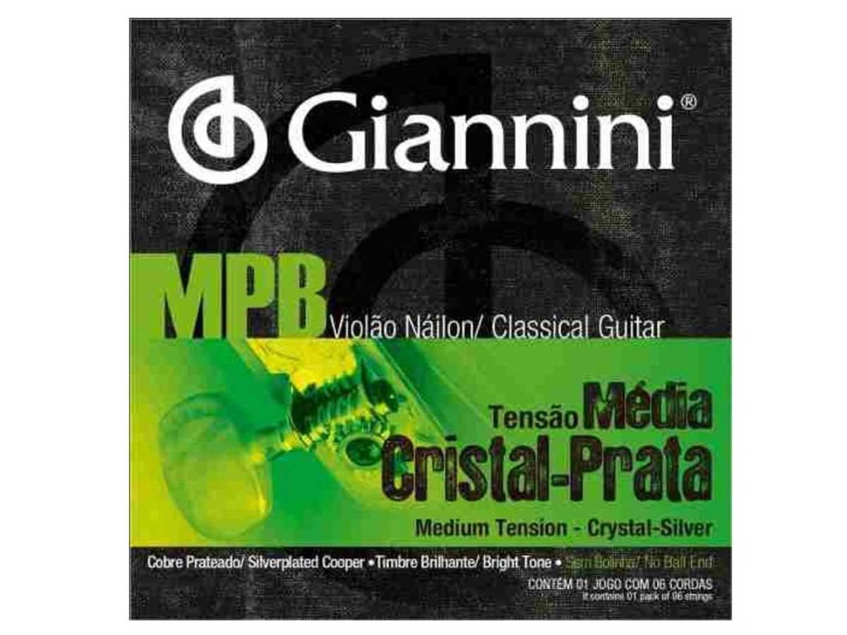 Encordoamento Giannini MPB para Violão Nylon Cristal Prata GENWS