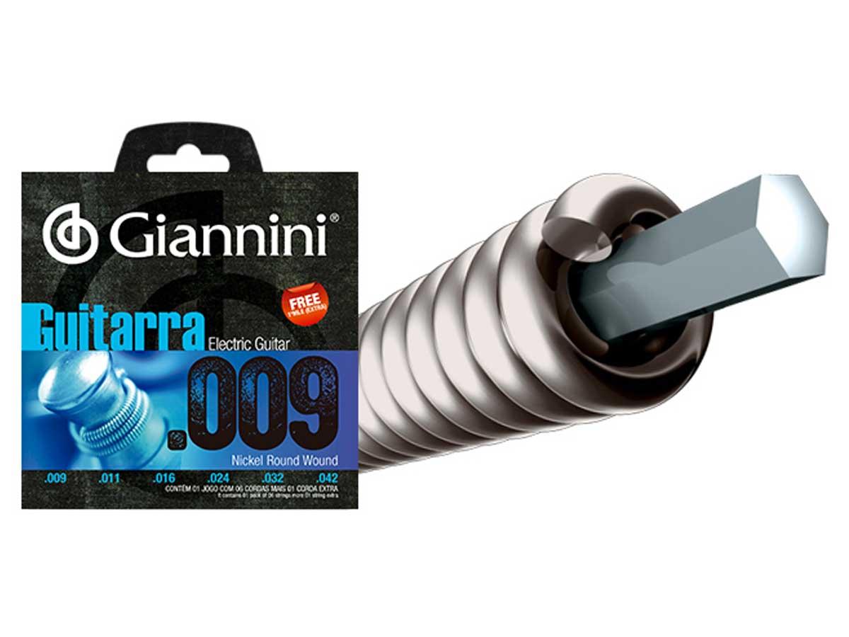 Encordoamento Giannini para Guitarra .009 Níquel GEEGST9