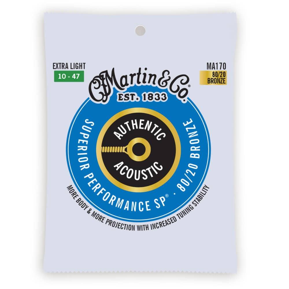 Encordoamento Martin MA170 para Violão Aço .010 .047 Bronze Extra Light