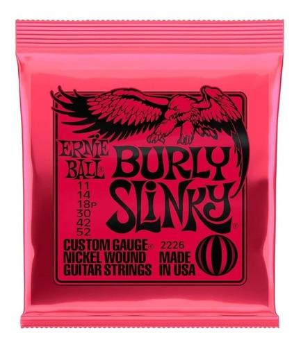 Encordoamento p/ Guitarra Ernie Ball 011-052 Burly Slinky Níquel P02226