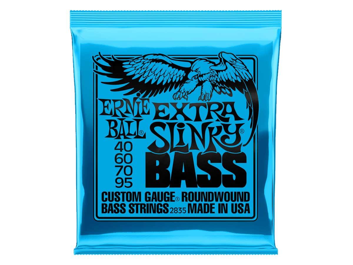 Encordoamento para Baixo 4 Cordas Ernie Ball 040 Extra Slinky 2835