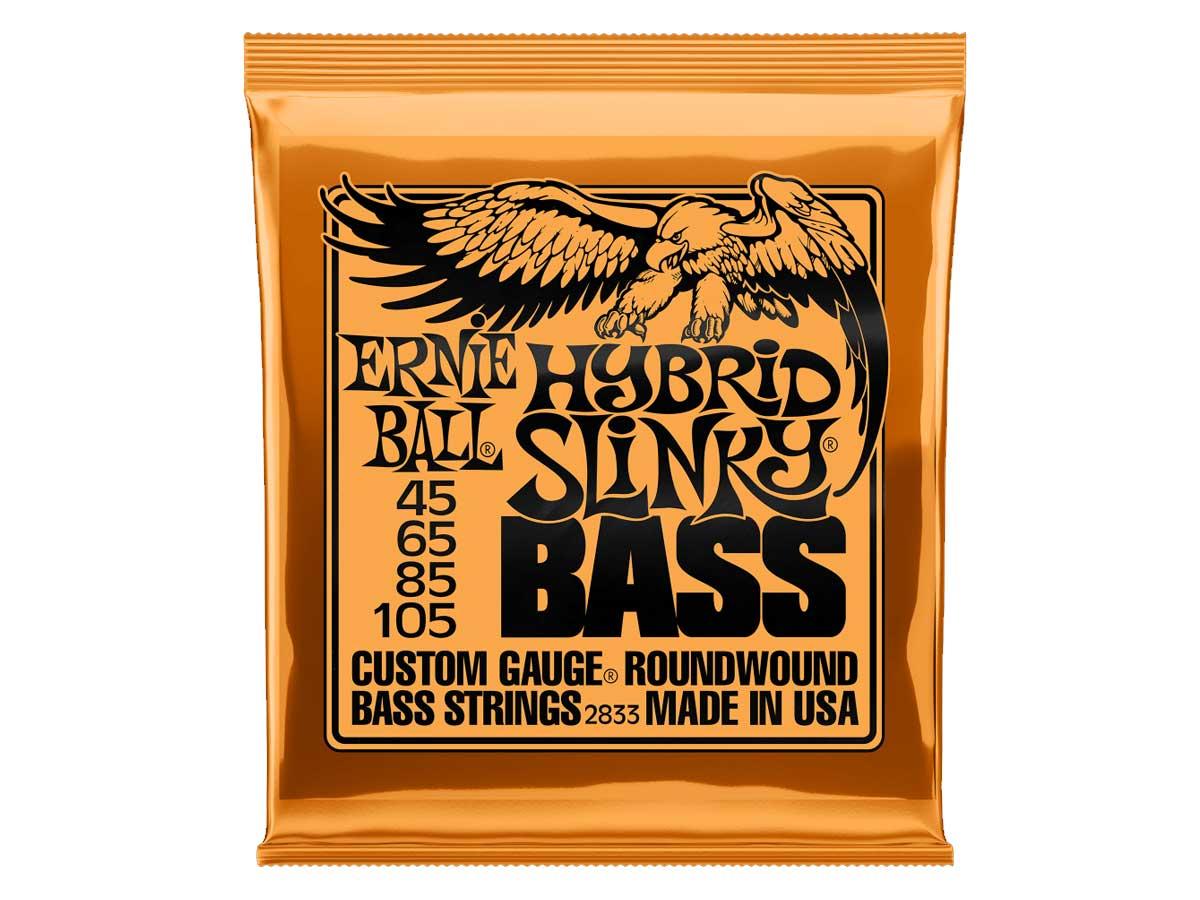 Encordoamento para Baixo 4 Cordas Ernie Ball 045 Hybrid Slinky 2833