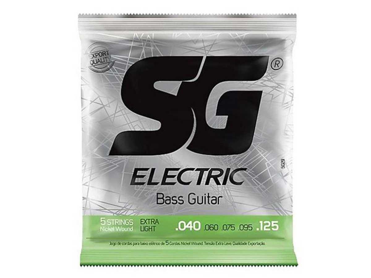 Encordoamento para Baixo 4 Cordas SG Strings Extra Light .040