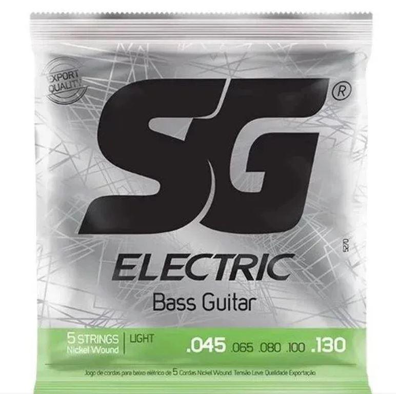 Encordoamento p Contra Baixo 5 Cordas SG Strings Light .045