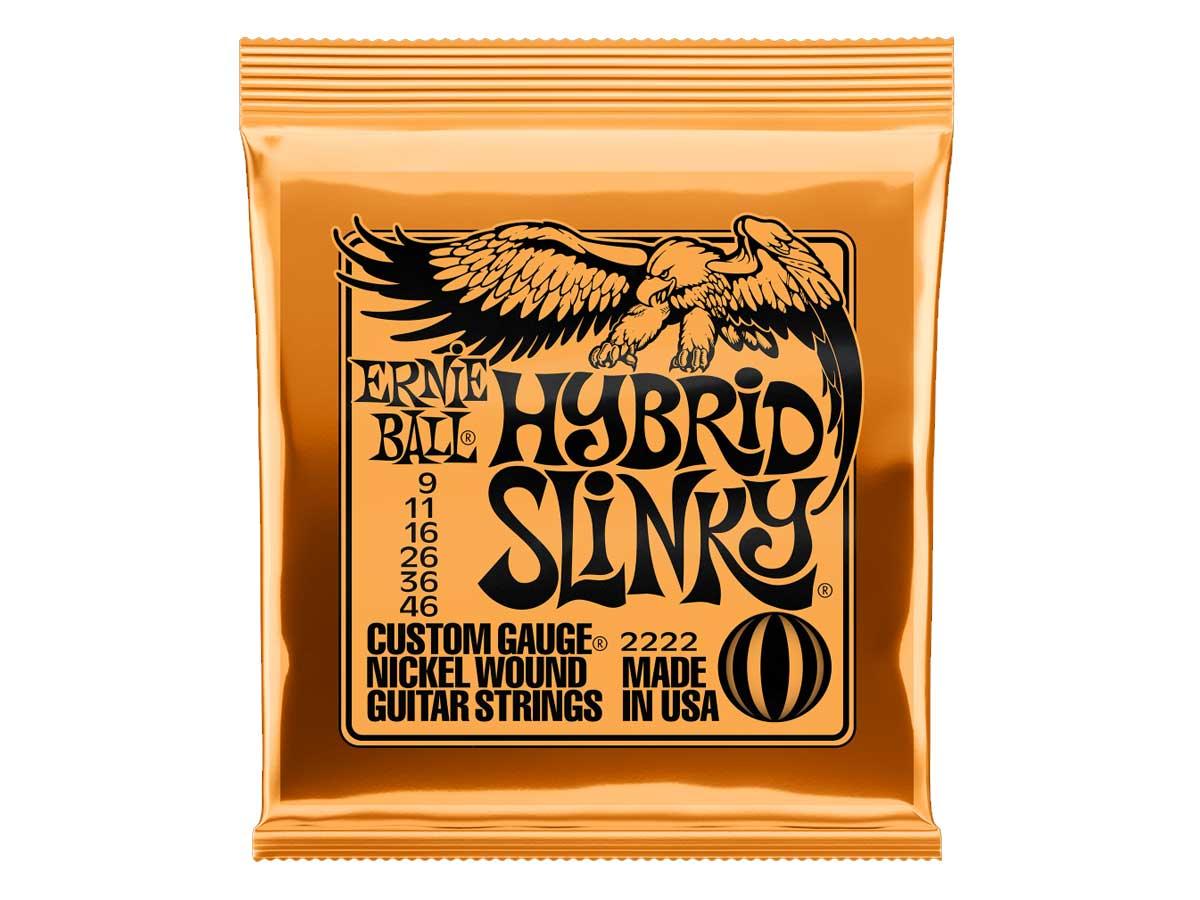 Encordoamento para Guitarra Ernie Ball 009 Hybrid Slinky 2222