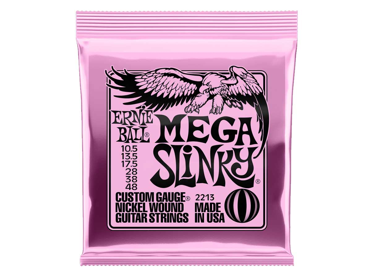 Encordoamento para Guitarra Ernie Ball 010.5 Mega Slink 2213