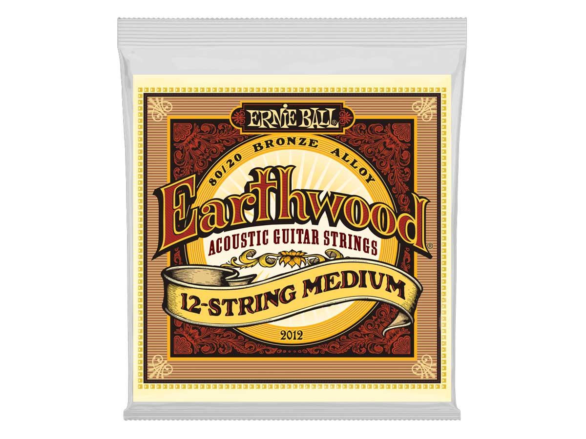Encordoamento para Violão 12 Cordas Ernie Ball 011 Earthwood Medium Bronze 2012