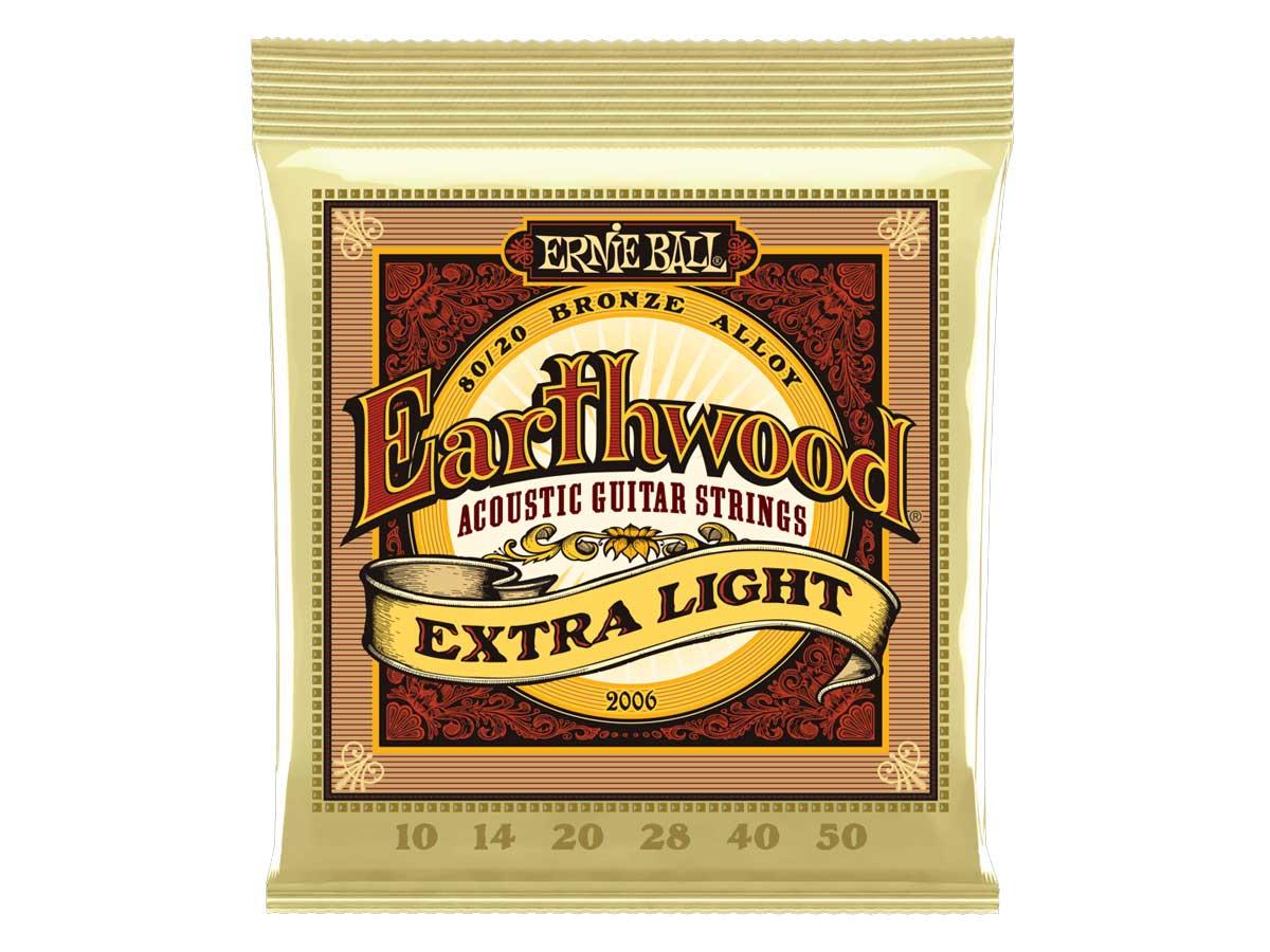 Encordoamento para Violão Ernie Ball 010 Earthwood Extra Light Bronze 2006