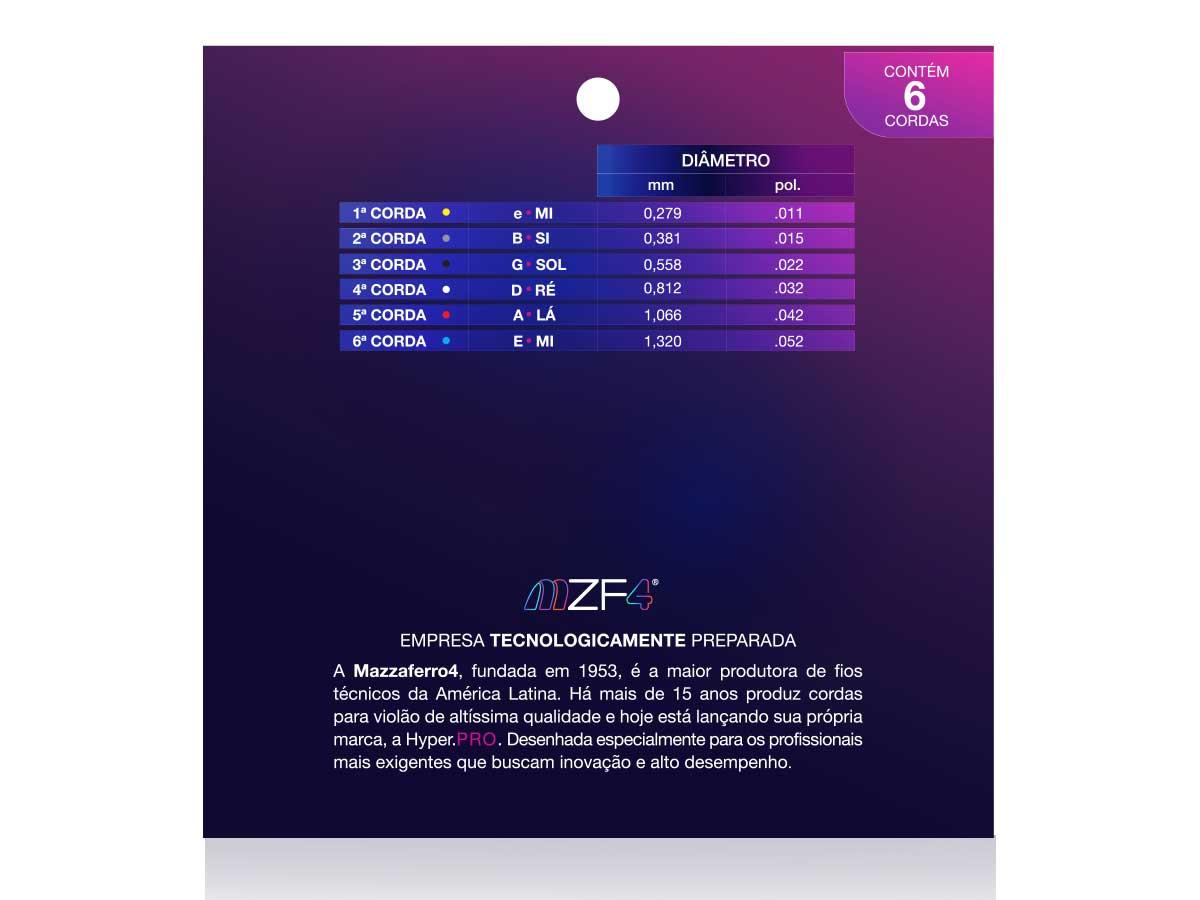 Encordoamento para Violão Hyper Pro Fósforo Bronze 011
